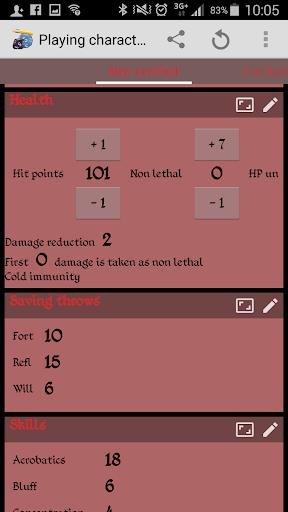 RPGenius Character Sheets