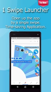 Smart One Swipe Launcher - Quick Arc Launcher 2- screenshot thumbnail