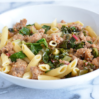 Sausage with Garlic Swiss Chard.