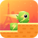Square Fish Jumping icon