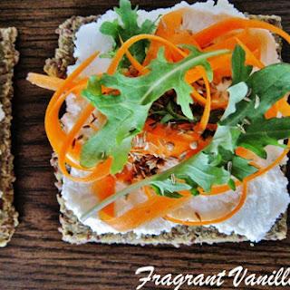 Carrot Flatbreads With Coconut 'Chèvre' [Vegan, Raw, Gluten-Free].