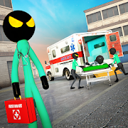 Stickman Rescue Ambulance Drive