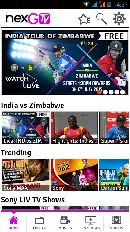 nexGTv - Live TV,Movies,Videos- screenshot