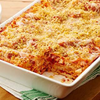 Chicken Parmesan Lasagna.
