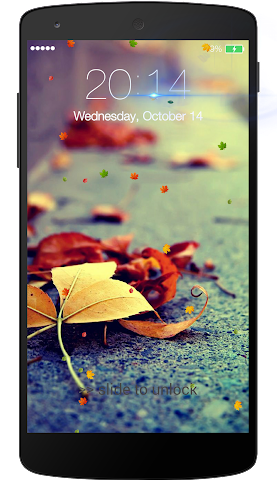 android Fall leaves Lock Screen Screenshot 1