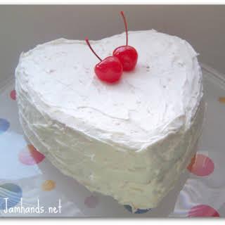 Cherry and Vanilla Layered Cake.