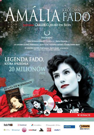 Polski plakat filmu 'Amalia. Królowa Fado'