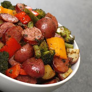 One Pan Sausage & Veggies.