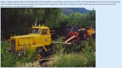 Photo: Brøytebilen vår. Internationale M-6123-70.
