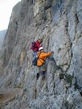 Photo: Colfoscu , Dolomiten: Piscadu Klettersteig mit Hella, Nina und Andrea Schannesz; 2005