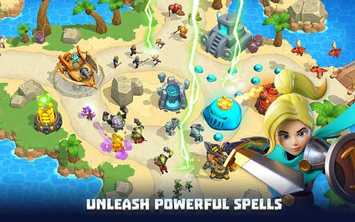 Wild Sky TD: Tower Defense Legends in Sky Kingdom screenshots 2