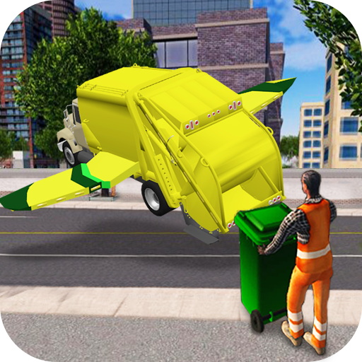 Flying Garbage Truck Simulator
