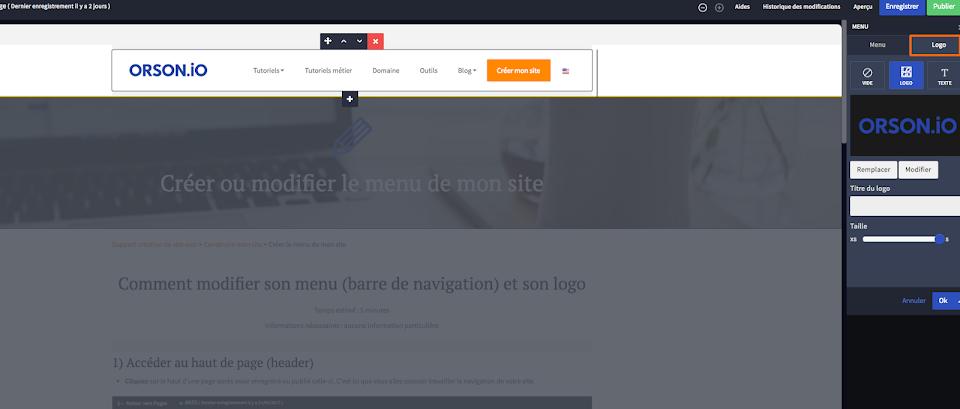 insérer un logo dans mon site