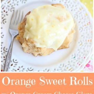 Orange Sweet Rolls with Orange Cream Cheese Glaze