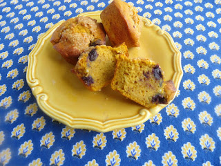 Blueberry Pumpkin Southern Comfort Muffins Recipe