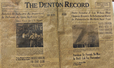 Photo: 1941 Denton Record in Time Capsule at Canaan http://CanaanUMC.net
