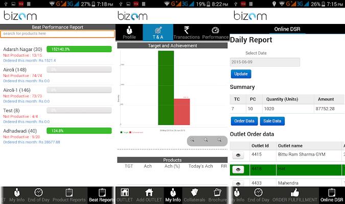 Bizom - screenshot