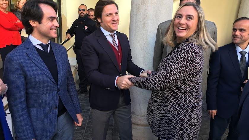 La consejera de Fomento, el lunes en Almería.