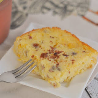 Candied Bacon Corn Pudding.