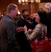 Photo: Former Corporation Counsel Bill Sinnott and Ellen Kief (Law Office of Ellen Kief) in lighthearted conversation.