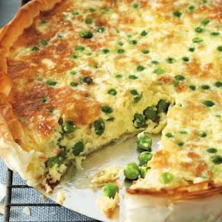 Egg, Garden, Pea, and Cheese Tarte Recipe