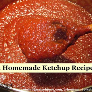 Homemade Tomato Ketchup for Canning.