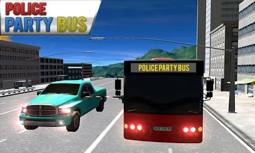 Strana policejní autobus 3D - náhled