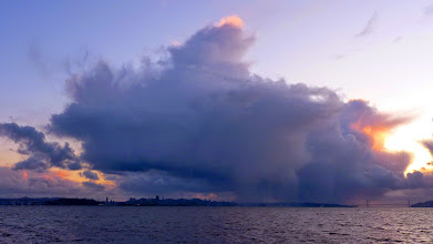 Photo: Big cloud at sunset over San Francisco, seen from Cesar Chavez Park 3/8/10 M.A. Nicolaus
