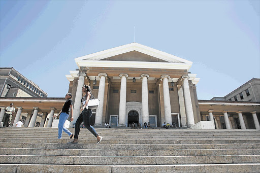 GOING UP: Jameson Hall, the focal point of the University of Cape Town, which boasts one of SA's costliest BCom degrees