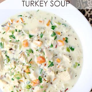 Creamy Wild Rice Turkey Soup.