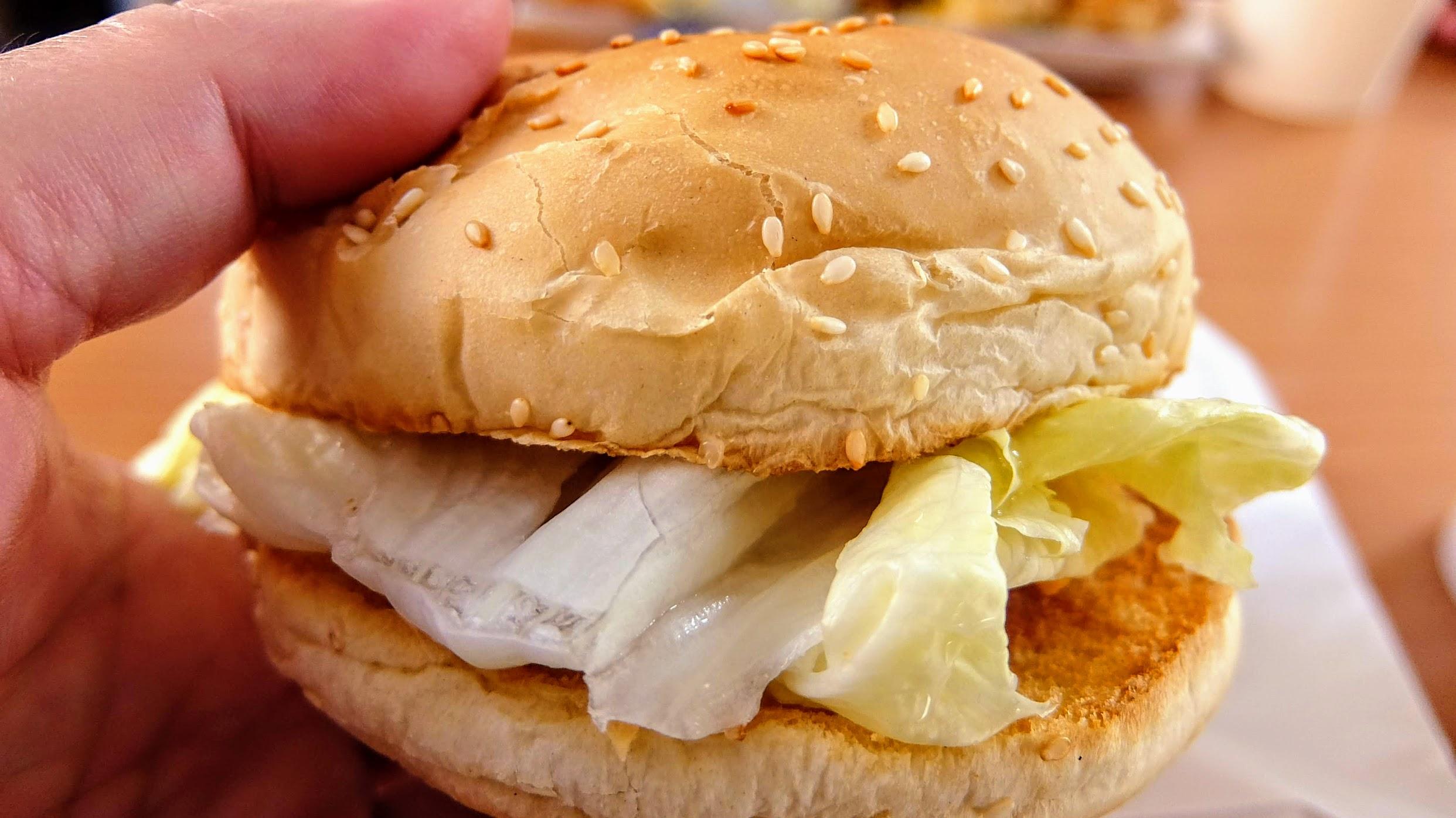 芝士鱈魚堡