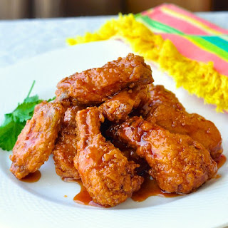 Crunchy Sticky Honey Barbeque Wings