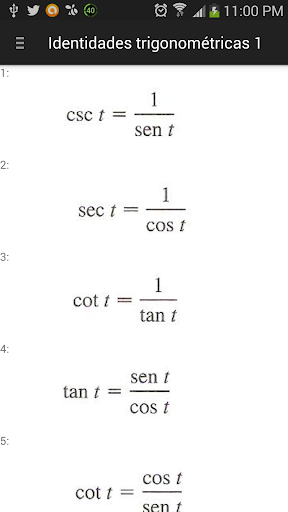 Formulas Matemáticas y Físicas