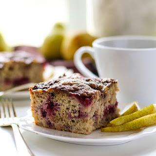 Raspberry Pear Coffee Cake (Gluten Free).