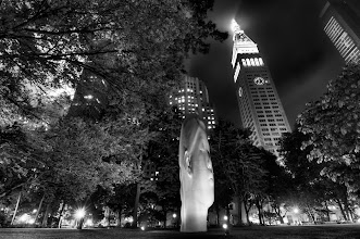 Photo: Sculpture at Madison Square Park.Processing:- Nikon D90, 11mm, f/8.0,  ISO 200- 3 Exposure HDR -2 to +2- Photomatix Tonemapping- Photoshop Masking and BW adjustments