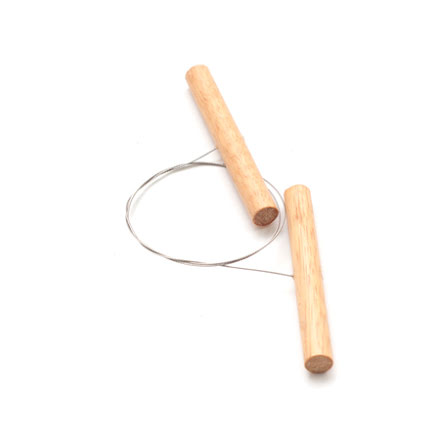 Lerskärare med tvinnad ståltråd