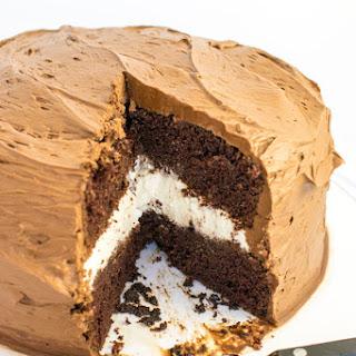 Chocolate Cake Layered with Vanilla Cream Recipe