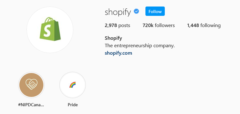instagram brands shopify