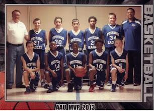 Photo: Interstate Runner Up - 6th grade boys VA, MD, DC, Potomac Valley Eagle Member, Charles Pickett, Coach (Left) James Taylor, Coach (Right)