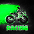 Kang ojek balapan drag motor racing icon