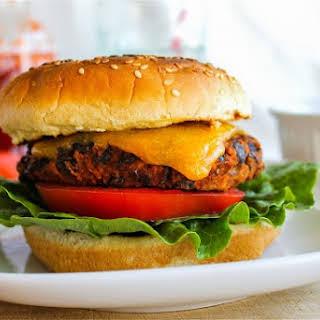 Spicy Black Bean Burgers with Sriracha Mayonnaise.