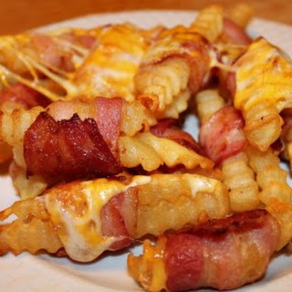 Bacon Wrapped Cheese Fries