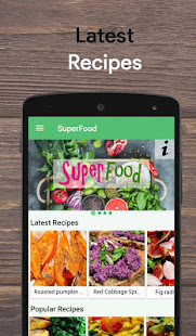 Superfood healthy recipes apps on google play screenshot image forumfinder Choice Image