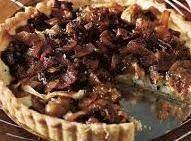 Bacon onion and cheese pie