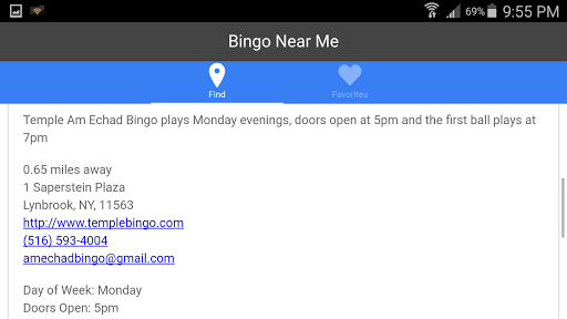 Bingo Near Me