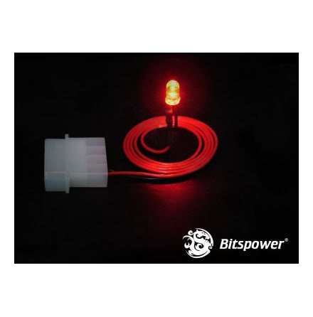 Bitspower LED, 5mm, Rød