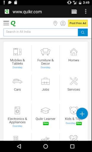 Classifieds Portal India 1.1 screenshots 1