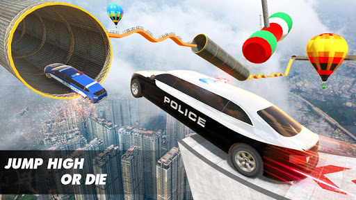 Police Limo Car Stunts GT Racing: Ramp Car Stunt modavailable screenshots 4