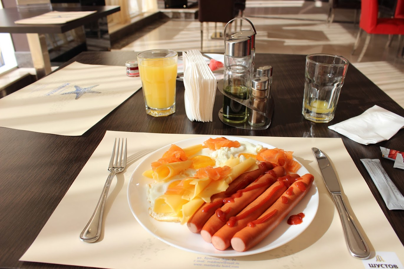 завтрак в Maristella Marine Residence