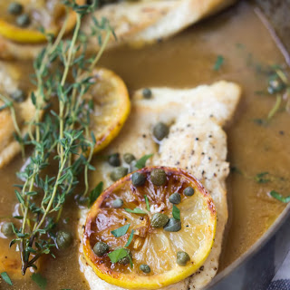 Paleo Caramelized Lemon Chicken Piccata